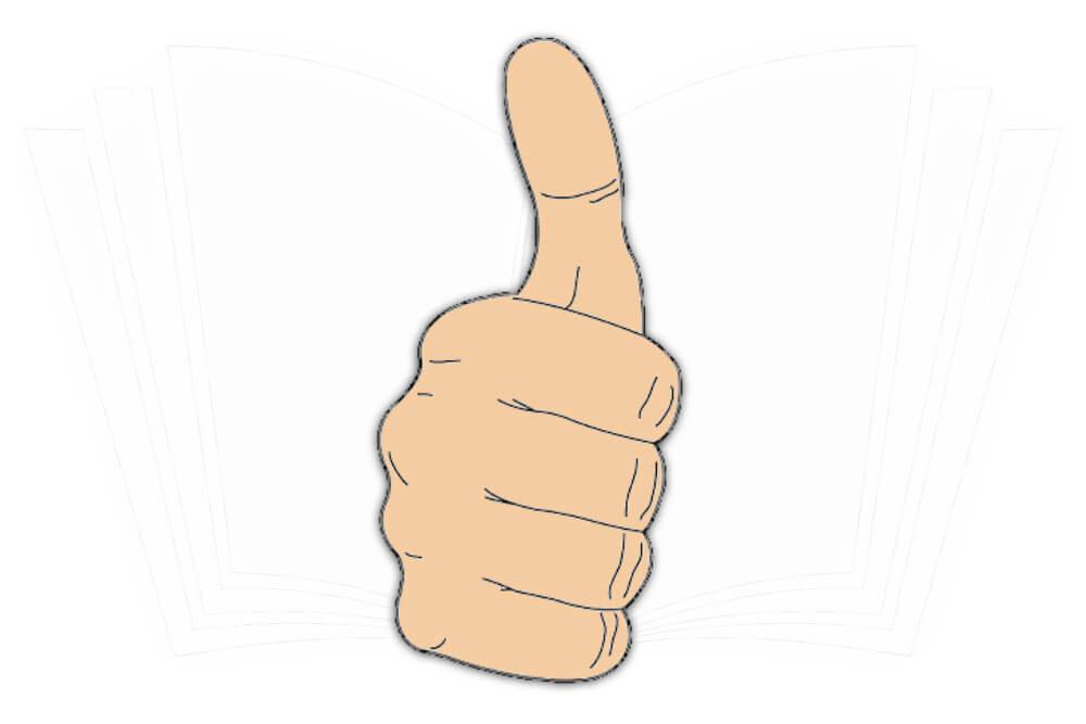 Handzeichen: Daumen hoch