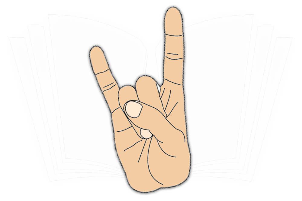 Handzeichen: Hörner