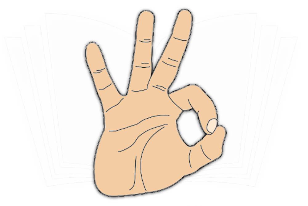 Handzeichen: Okay