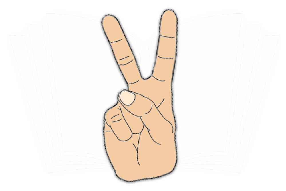 Handzeichen rocker Tattoo Rock