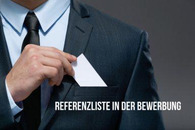 Referenzliste Bewerbung: Tipps zum Aufbau