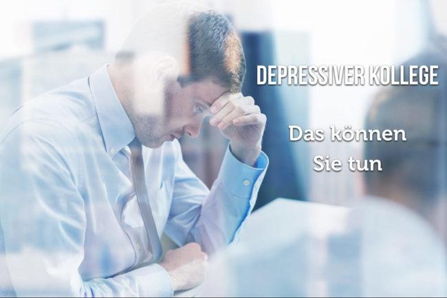 Depressiver Kollege: Wie kann ich helfen?