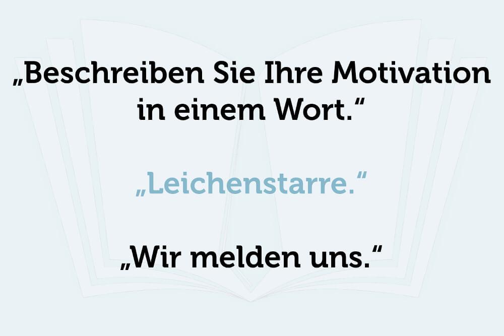 Wir Melden Uns Motivation