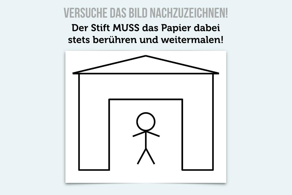 Brainteaser Zeichnung Haus