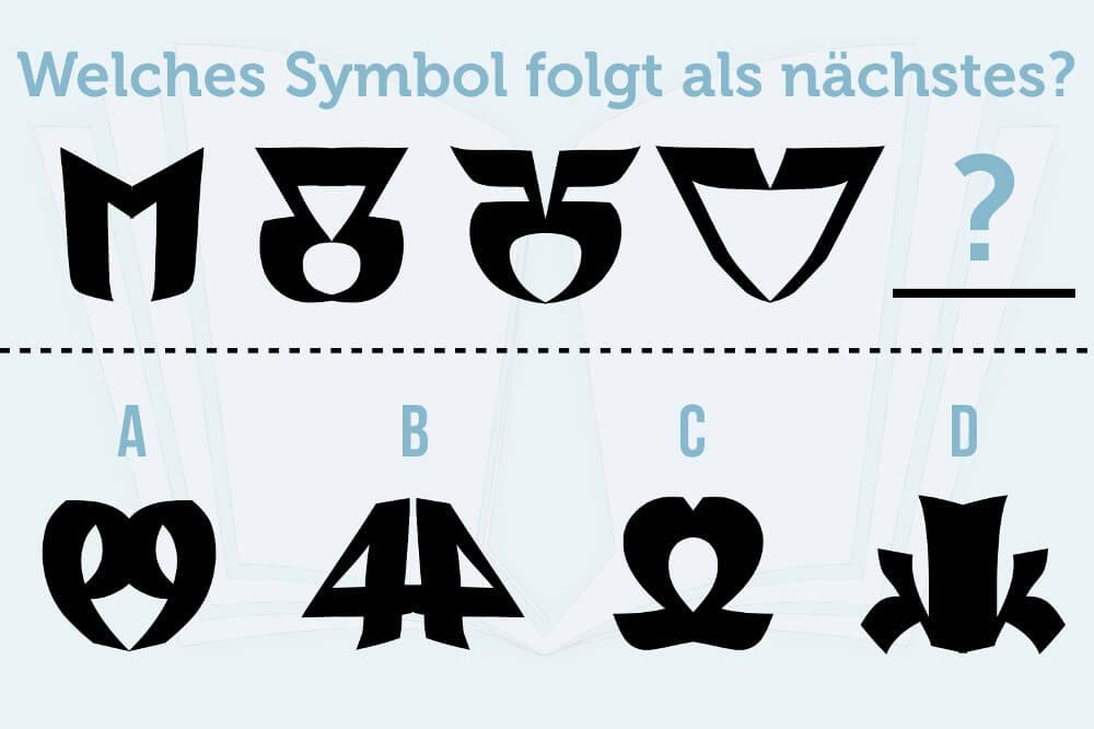 Knobelaufgabe Symbole Erkennen