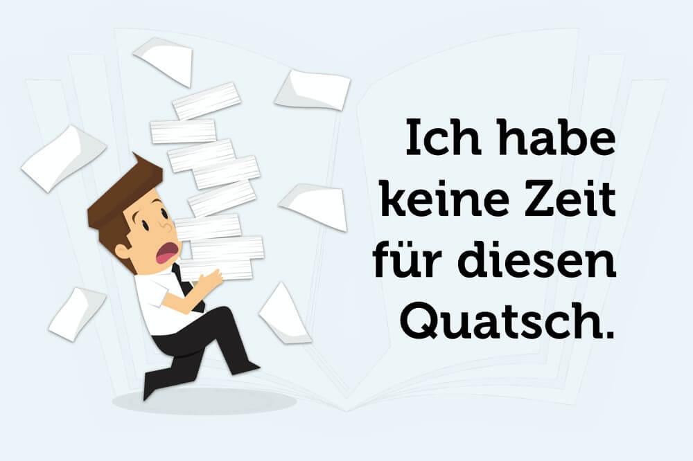 Meeting Tipps Saetze Quatsch