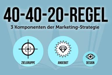 40-40-20-Regel: Erfolgreiches Marketing mit 3 Elementen
