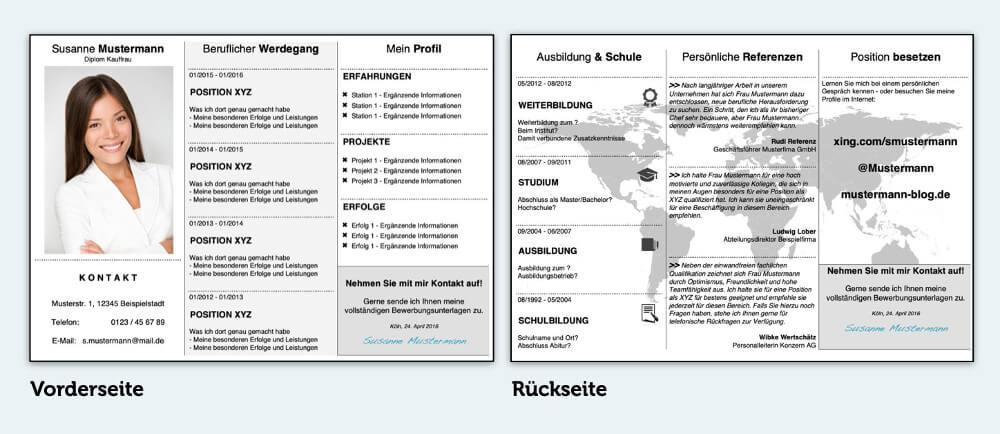 Bewerbungsflyer Bewerbungsmuster Vorlage Kostenlos Beispiel Download