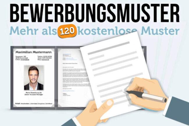 Bewerbungsmuster: 120 kostenlose Muster & Tipps