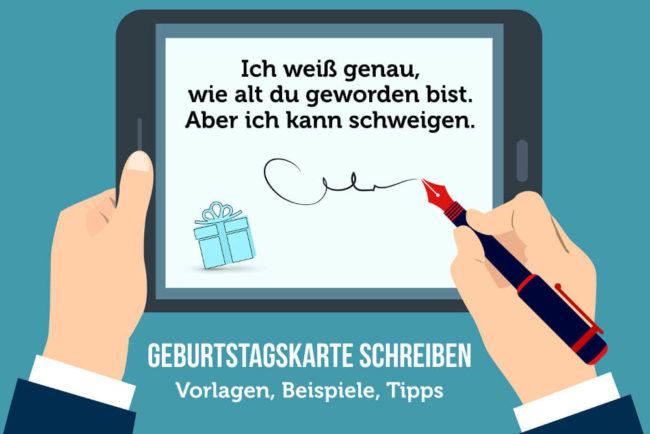 Geburtstagskarte Schreiben 31 Vorlagen Und Sprüche