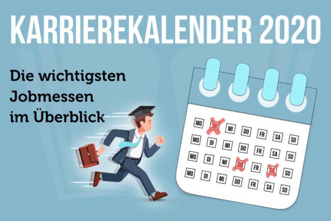 Karrierekalender 2020: Jobmessen im September und Oktober