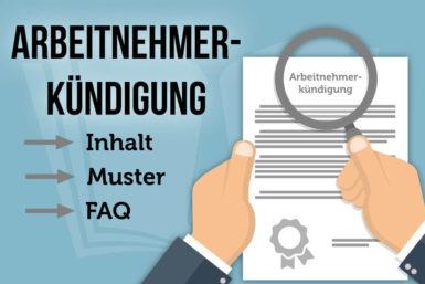 Arbeitnehmerkündigung: Informationen und Vorlage