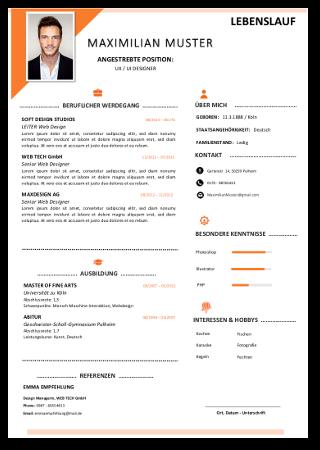Lebenslauf Vorlage#5 Tabellarischer Lebenslauf Bewerbung Muster Kostenlos Vordruck Download