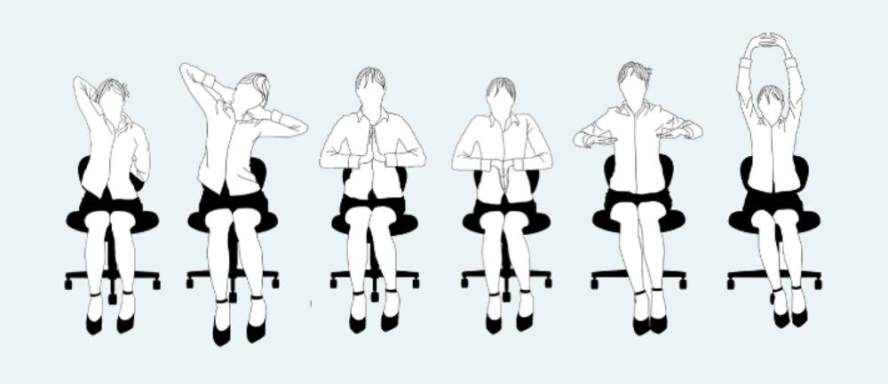 Entspannung Uebung Nacken Entspannen Buero Stuhl