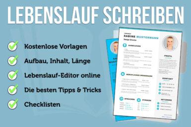 Lebenslauf: Vorlagen, Online-Editor + Tipps zum Inhalt