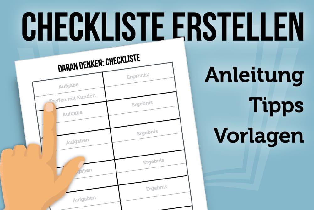 Checkliste Vorlage Im Word Format Kostenlos 3