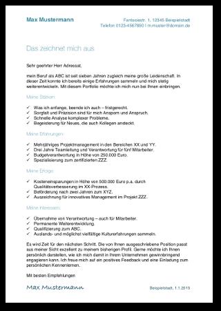 kurzprofil bewerbung vorlage beispiel muster cover - Bewerbung 450 Euro Job Muster