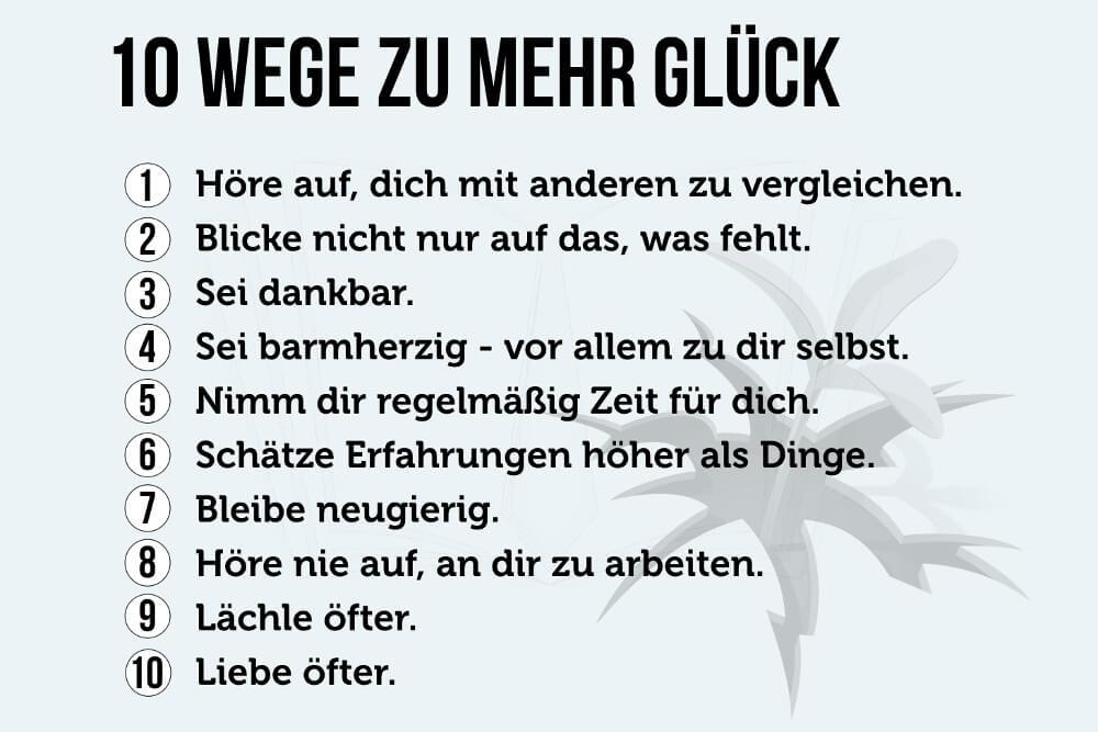 Glueck Wege Tipps Gluecklich Werden Gluecksfaktoren