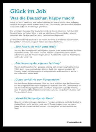 Glueck Im Job Studie Ergebnis Pdf Download